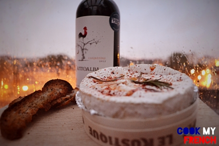 Great wine to go with a roasted camembert